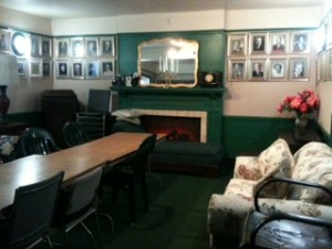 The green room sparkles after the thorough cleaning by Ralph and Sharon Rosati.