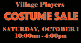Costume Sale 10/1 10 AM to 4 PM