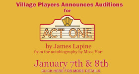 Act One Auditions Jan 7 and 8